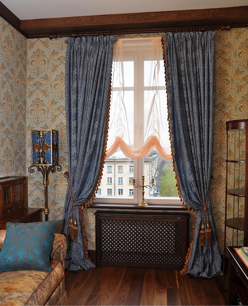 данной шторы для гостиной в английском стиле фото длинных